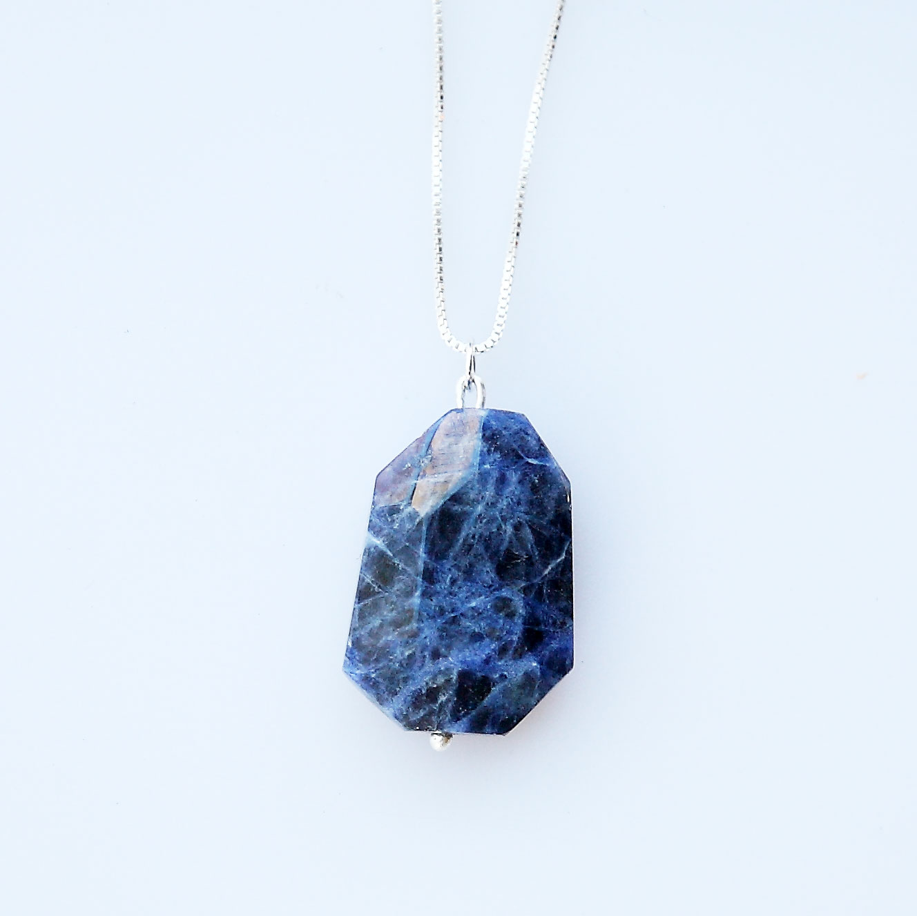 crystal real shop stone recycled denim gift products necklace vegan img sodalite pendant kayla rox with jewelry blue
