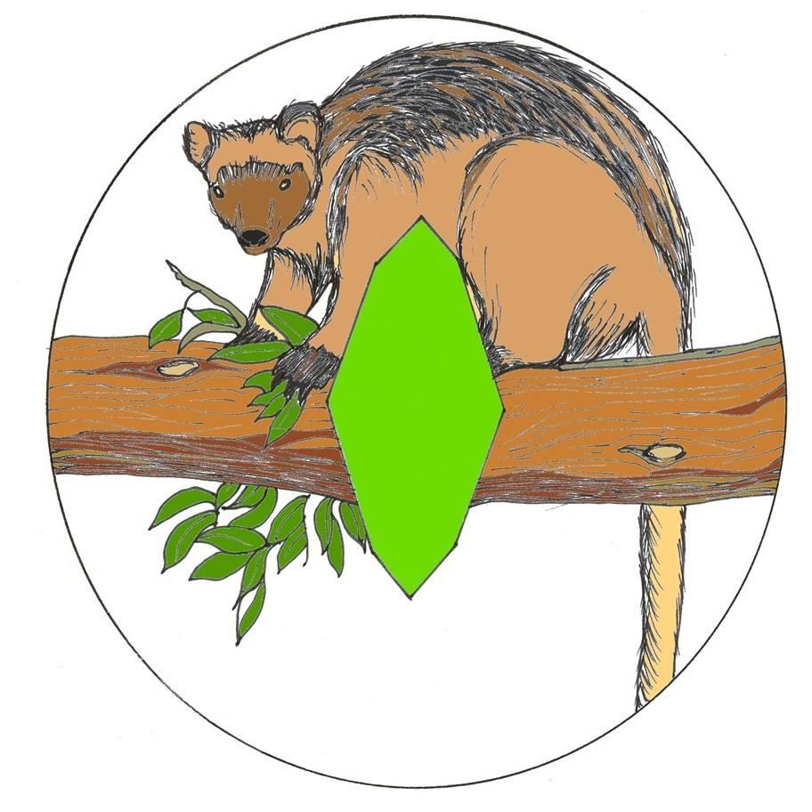 Tree Kangaroo logo 39 LIME